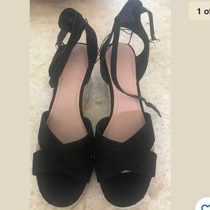H&M Black Sandals, Sz 41 (9.5)